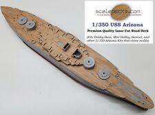Wood Deck for 1/350 USS Arizona (fits Hobby Boss and others) by Scaledecks.com