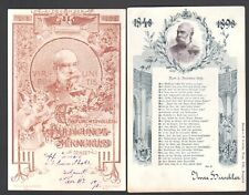 2 x Kaiser Franz Josef Huldigungs Litho - Karten aus 1898 SELTEN !!