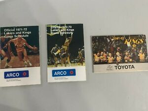 3x LOS ANGELES LAKERS KINGS Pocket Schedules 1971-72 1972-73 1981-82