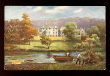 Scotland Roxburghshire ABBOTSFORD artist A Young Tuck Oilette #7015 Vintage PPC