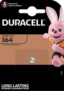 DURACELL 364 Pile Oxyde d'argent 1,5 V - Blister de 1 piles - DATE 03/2024
