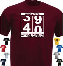 Oldometer 40th Birthday New Funny Birthday T-shirt Present Gift
