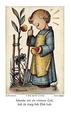 """Fleißbildchen Heiligenbild Gebetbild """" Hummel """" Holy card Ars sacra"""" H631"""""""