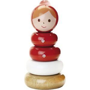 Jouet empilable en bois laqué Chaperon rouge - Vilac 7806