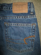 AMERICAN EAGLE Slight Flare 100% Cotton Blue Denim Jeans Womens Size 0 P x 29