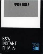 IMPOSSIBLE 600 LOT DE 2 FILMS BLACK & WHITE CADE BLANC