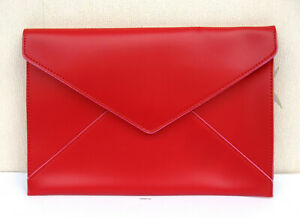 Elizabeth Arden Red Clutch Faux Leather Pouch - New