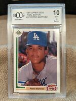 1991 Upper Deck Final Edition Pedro Martinez ROOKIE RC #2F BCCG 10