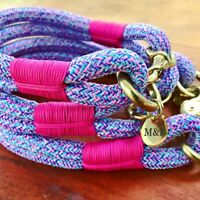 Bubblegum Rope Dog Collar