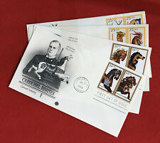 1988-95 United States FDC (4) - 2 sets - Art / Horses / Carousel Animals