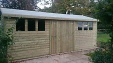SUPER SAVE 20x10 13mm Tanalised Shed 6ft6 to the eaves