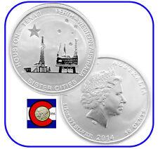 2014 Houston-Perth 1/2 oz Silver Australia Coins - 2 coins in airtites - oil rig