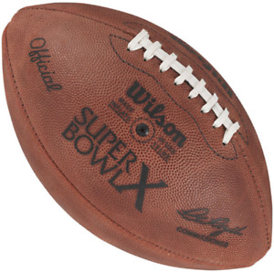 SUPER BOWL X 10 Authentic Wilson NFL Game Football - PITTSBURGH STEELERS