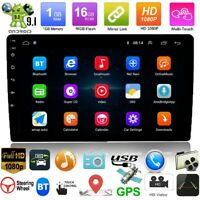 """10.1"""" Android9.1 Car Stereo GPS Navi MP5 Player Double 2Din WiFi Quad Core Radio"""