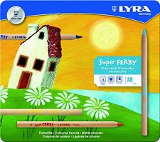 LYRA Super Ferby Unlacquered Triangular Giant Colored Pencils, Set of 18 Pencils