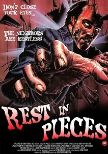 """REST IN PIECES 1987 repro Video poster 30x20"""" rare 80s horror slasher FREE P&P"""