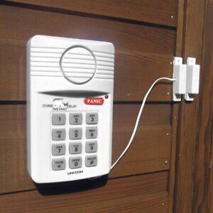 Garage, Shed or Caravan Intruder Alarm Loud 88dB(A) siren Battery Operated 3XAA