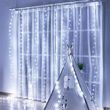 300 LED Curtain Light USB Plug in Window Fairy Light 3M x 3M 12 Modes Remote Con