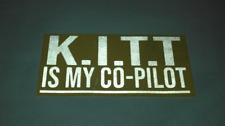 REFLECTIVE KITT Is My Co-Pilot Sticker Bumper Window Decal Knight Rider Pontiac