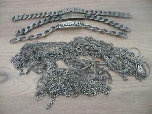 Lot Collier et bracelets argent massif 401,7 Grs