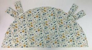 "Ralph Lauren Set Ivory Floral Blue Yellow Gold 70"" Round Tablecloth & 4 Napkins"