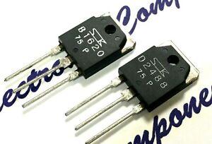 1pair- Sanken 2SB1620 & 2SD2488  200V 15A 130W Transistor - Genuine NOS