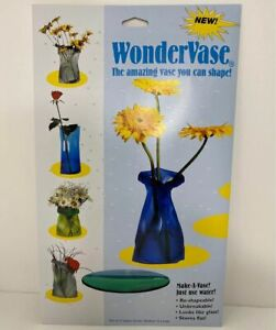 WonderVase Reusable Unbreakable Collapsible Vase Set of 3 Small Med Large - NEW