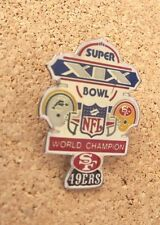 SB Super Bowl 19 XIX SF San Francisco 49ers Miami Dolphins medium pin NFL DEFECT