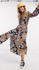 Asos Monki Flower Print Dress Maxi L