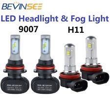 For Ford Focus 2005-2007 4X 9007 LED Headlight + H11 Fog Light 6500K White Bulbs