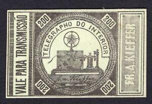 Brazil 1870 telegraph stamp Yvert#1a MH CV=1300€ RARE!! R!R! lot2