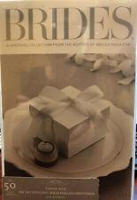 Brides Magazine White Wedding Favor Box and Ribbon 50ct