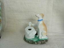 ancien encrier en porcelaine de paris à décor de chien