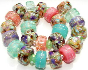 "Sistersbeads ""L-Martinique-Large"" Handmade Lampwork Beads"