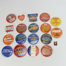 Arby's Vintage Lot of 19 Buttons Pinbacks Pins Collection Fast Food Employee