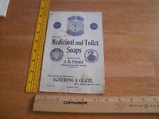 1913 Medicinal & Toilet Soap catalog JD Stiefel Germany