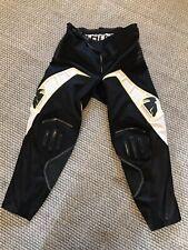 Thor Flux Motorcross Racing Pants Mens Size 30 Black White Dirt Bike