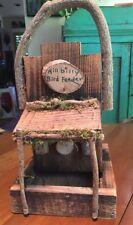 BIRD FEEDER Vintage Rustic Handmade Wooden Decorative Folk Art HILLBILLY style
