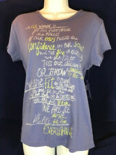 "NWT Title Nine ""A Fit Woman Is.."" T-Shirt Size Large in Blue"