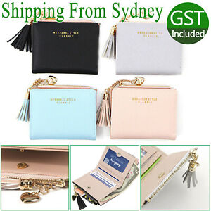 Women Wallet Short Small Coin Purse Ladies Folding Card Card Holder Leather AU