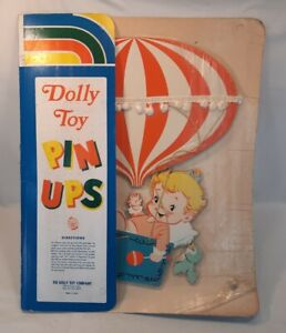 DOLLY TOY PIN UPS Nursery Wall Hanging Decor BABY/BALLON #333 THE DOLLY TOY CO.