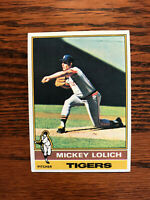1976 Topps #385 Mickey Lolich Baseball Card Detroit Tigers Raw