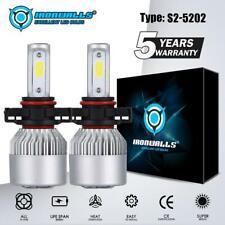 5202 LED Headlight Bulb Kit Hi/Lo Beam For Chevy Silverado 1500 2500 HD 2007-15