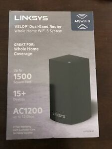 Linksys VELOP Dual-Band Router Whole Home WIFI 5 System AC1200, Brand New Sealed
