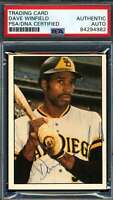 Dave Winfield PSA DNA Coa Autograph 1975 SSPC Hand Signed