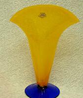 Richard Blenko Blown Art Glass Vase