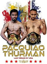 Manny Pacquiao vs Keith Thurman 4LUVofBOXING New Boxing Posters WH or BK