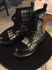 Fornarina Ankle Boots Platform Wool Black White US 6.5 EUR 37