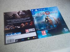 God Of War PS4 Replacement Box Art Sleeve/ Inlay  Only Reproduction