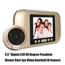 "3.5"" LCD Farbdisplay Digital Türspion Viewer Kamera Haustürüberwachung Guckloch"